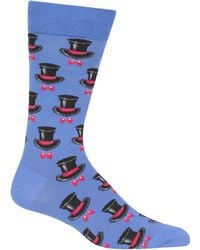 Hot Sox - Top Hat & Bow Tie Crew Socks - Lyst