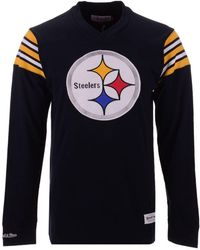 cb52aa1b0 Mitchell   Ness - Pittsburgh Steelers Team Captain V-neck Long Sleeve T -shirt