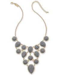"INC International Concepts - I.n.c. Gold-tone Imitation Pearl & Fabric Statement Necklace, 18"" + 3"" Extender, Created For Macy's - Lyst"