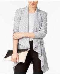 Alfani - Draped Knit Cardigan, Created For Macy's - Lyst