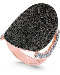 Macy's - Diamond Pavé Dome Ring (2 Ct. T.w.) In 14k Rose Gold - Lyst