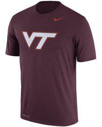 Nike - Men's Virginia Tech Hokies Legend Logo T-shirt - Lyst