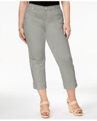 Style & Co. - Plus Size Tummy-control Capri Jeans, Black Wash - Lyst