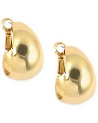 """Anne Klein - 3/4"""" Medium Band Hoop Earrings - Lyst"""