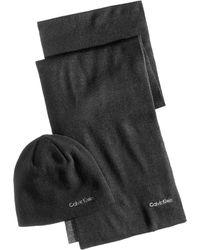 Calvin Klein - Men's Reversible Hat & Scarf Set - Lyst