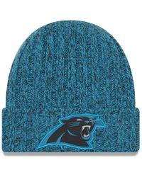 KTZ - Carolina Panthers On Field Knit Hat - Lyst
