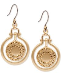 Lucky Brand - Gold-tone Pavé Orbital Drop Earrings - Lyst