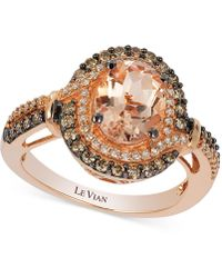 Le Vian - Morganite (1-1/5 Ct. T.w.) And Diamond (1/2 Ct. T.w.) Ring In 14k Rose Gold - Lyst
