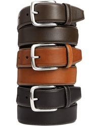 Cole Haan - Burnished Edge Leather Belt - Lyst