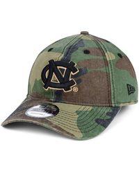 finest selection 8835e 892c7 KTZ - North Carolina Tar Heels Woodland Classic Twill 9twenty Strapback Cap  - Lyst