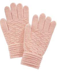 Steve Madden - Zigzag Touchscreen Gloves - Lyst