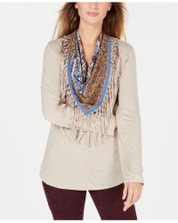 Style & Co. - Petite Scarf-neck Fringed Top, Created For Macy's - Lyst