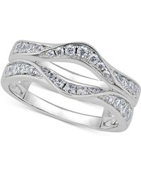 Macy's - Diamond Curved Ring Guard (5/8 Ct. T.w.) In 14k White Gold - Lyst