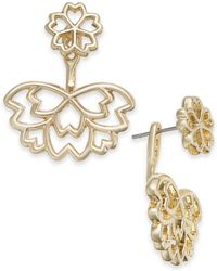 INC International Concepts - I.n.c. Gold-tone Flower Jacket Earrings, Created For Macy's - Lyst