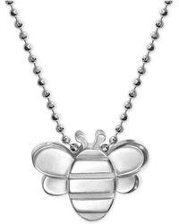 Alex Woo - Bumble Bee Pendant Necklace In Sterling Silver - Lyst