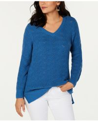 Style & Co. - Pointelle-knit Tunic Jumper, Created For Macy's - Lyst