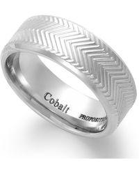 Proposition Love - Cobalt Chevron Accent Ring - Lyst