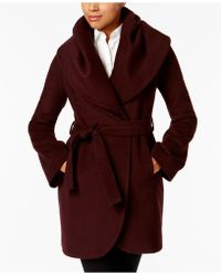 T Tahari - Marla Shawl-collar Wrap Coat - Lyst