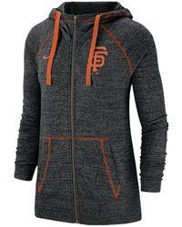 3f7e4eac92ed Nike - San Francisco Giants Gym Vintage Full-zip Hooded Sweatshirt - Lyst
