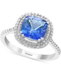 Effy Collection - Effy® Tanzanite (2-1/4 Ct. T.w.) & Diamond (1/4 Ct. T.w.) Ring In 14k White Gold - Lyst