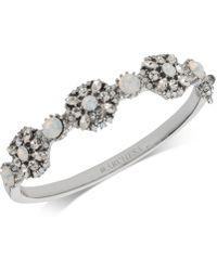 Marchesa - Silver-tone Crystal Cluster Bangle Bracelet - Lyst