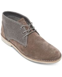Kenneth Cole Reaction - Passage Suede Chukka Boots - Lyst