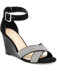 Callisto - Montana Crisscross Wedge Sandals, A Macy's Exclusive Style - Lyst
