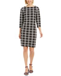 Charter Club Textured Plaid Dress, Created For Macy's - Black