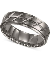 Triton - Men's Titanium Ring, Etched Wedding Band - Lyst