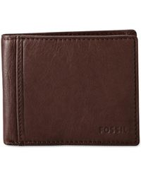 Fossil - Men's Leather Neel Bifold Wallet - Lyst