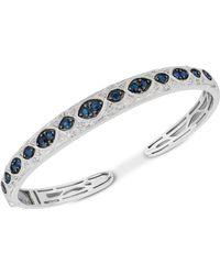 9f396aceb6027 Sapphire (1-3/4 Ct. T.w.) & Diamond (1/6 Ct. T.w.) Bangle Bracelet In  Sterling Silver