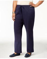 491bf771d6898 Lyst - Karen Scott Plus Size Knit Capri Pants