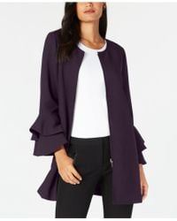 Alfani - Flared-sleeve Collarless Jacket, Created For Macy's - Lyst
