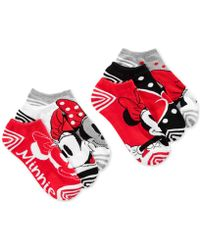 Disney - Women's Minnie Mouse Stripes No Show 6- Pk. Socks - Lyst