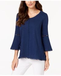 Style & Co. - Plus Size Lantern-sleeve Swing-hem Top, Created For Macy's - Lyst