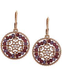 Lonna & Lilly - Gold-tone Beaded Filigree Drop Earrings - Lyst