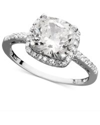 Giani Bernini - Sterling Silver Ring, Cubic Zirconia Cushion Cut Pave Ring (3-3/4 Ct. T.w.) - Lyst