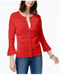 Charter Club - Bell-sleeve Cardigan, Created For Macy's - Lyst