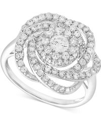 Wrapped in Love - Diamond Ring, 14k White Gold Diamond Pave Knot Ring (1 Ct. T.w.) - Lyst