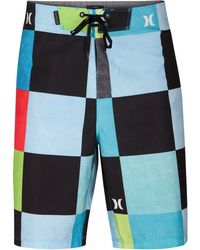 "Hurley - Phantom Kingsroad Check 20"" Board Shorts - Lyst"