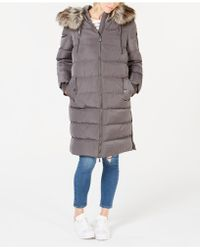 BCBGeneration - Faux-fur-trim Hooded Puffer Coat - Lyst