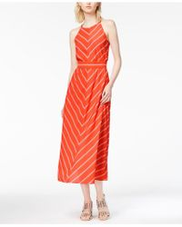 Maison Jules | Kimberly Striped Midi Dress | Lyst