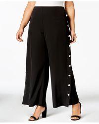 Love Scarlett - Plus Size Buttoned Wide-leg Pants - Lyst