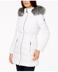Laundry by Shelli Segal - Faux-fur-trim Puffer Coat - Lyst