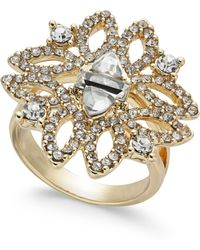 INC International Concepts - I.n.c. Gold-tone Crystal Statement Ring, Created For Macy's - Lyst