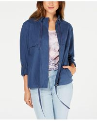 Style & Co. - Zip-up Roll-tab-sleeve Jacket, Created For Macy's - Lyst