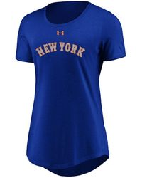Under Armour - New York Mets Team Font Scoop T-shirt - Lyst