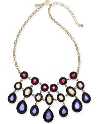 """INC International Concepts - I.n.c. Gold-tone Multi-stone Statement Necklace, 17"""" + 3"""" Extender, Created For Macy's - Lyst"""