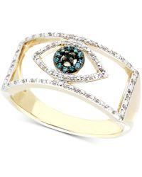 Wrapped in Love   Diamond Evil Eye Ring (1/6 Ct. T.w.) In 10k Gold   Lyst