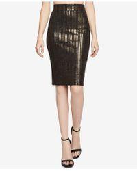 BCBGeneration - Striped Metallic Pencil Skirt - Lyst
